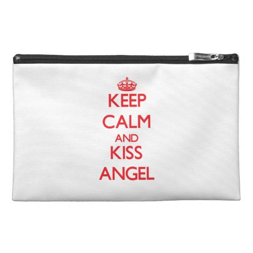 Keep Calm and Kiss Angel Travel Accessory Bags
