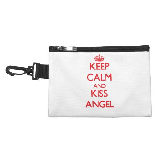 Keep Calm and Kiss Angel Accessories Bag