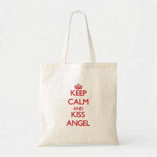 Keep Calm and Kiss Angel Tote Bag