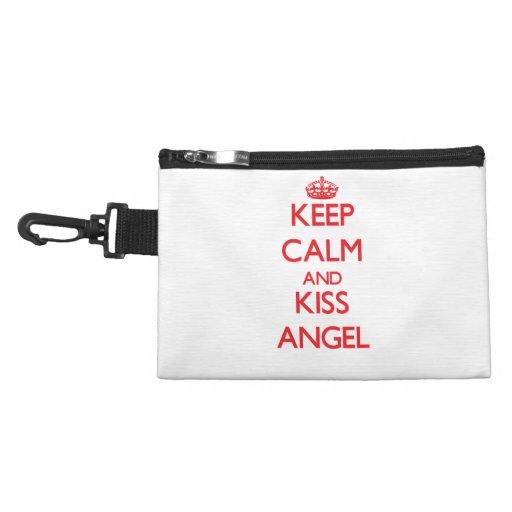 Keep Calm and Kiss Angel Accessory Bag