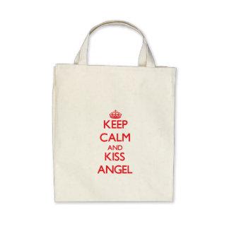 Keep Calm and Kiss Angel Bags