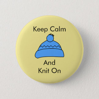 Keep calm and Knit on badge