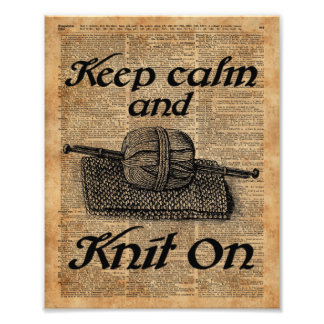 Keep Calm And Knit On Photo Print