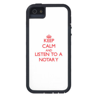 Keep Calm and Listen to a Notary iPhone 5 Case