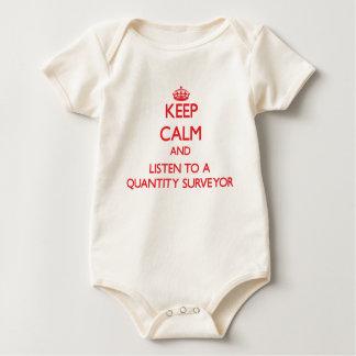 Keep Calm and Listen to a Quantity Surveyor Baby Bodysuit