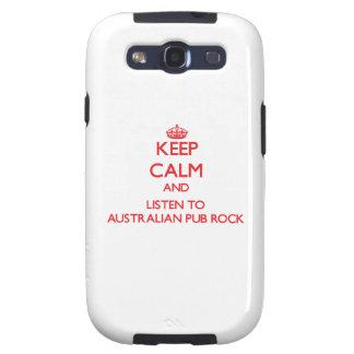 Keep calm and listen to AUSTRALIAN PUB ROCK Galaxy S3 Cover