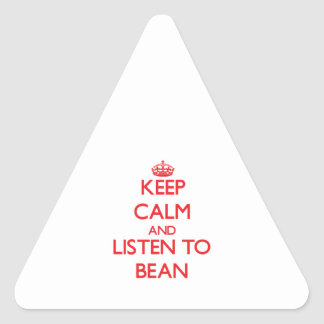 Keep calm and Listen to Bean Triangle Sticker