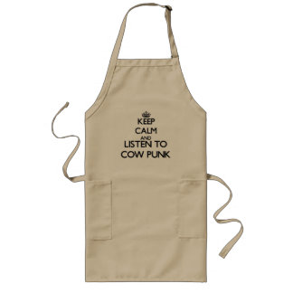 Keep calm and listen to COW PUNK Aprons