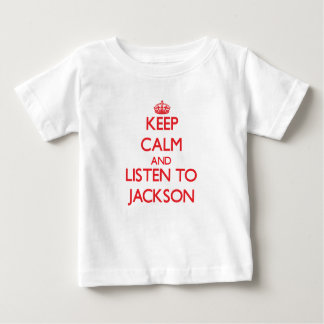 Keep Calm and Listen to Jackson Baby T-Shirt