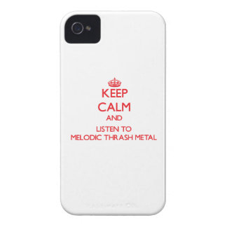 Keep calm and listen to MELODIC THRASH METAL iPhone 4 Case-Mate Cases