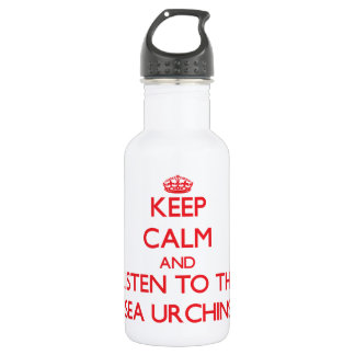 Keep calm and listen to the Sea Urchins 532 Ml Water Bottle