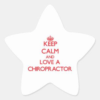 Keep Calm and Love a Chiropractor Star Sticker