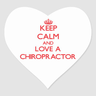 Keep Calm and Love a Chiropractor Sticker