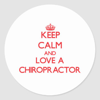 Keep Calm and Love a Chiropractor Stickers