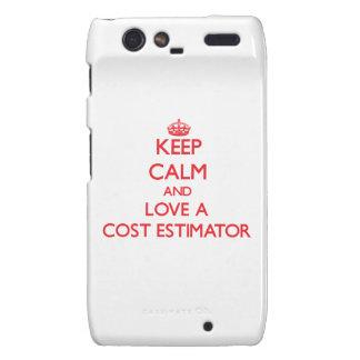 Keep Calm and Love a Cost Estimator Droid RAZR Case