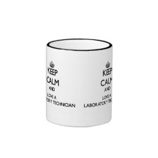 Keep Calm and Love a Laboratory Technician Ringer Mug