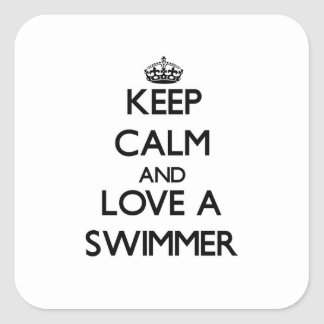 Keep Calm and Love a Swimmer Stickers