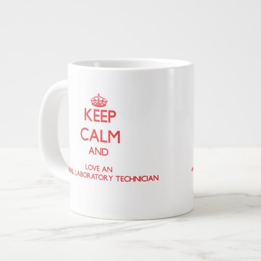 Keep Calm and Love an Animal Laboratory Technician Jumbo Mug