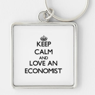 Keep Calm and Love an Economist Key Ring
