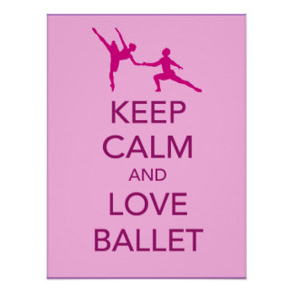 Keep Calm and Love Ballet Gift Print