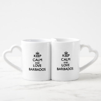 Keep Calm and Love Barbados Coffee Mug Set