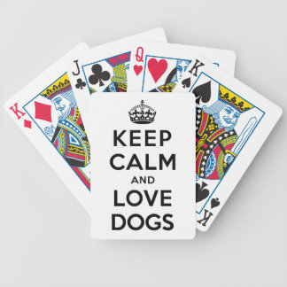 Keep Calm and Love Dogs Bicycle Playing Cards
