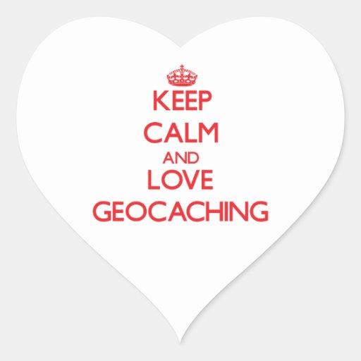 Keep calm and love Geocaching Sticker