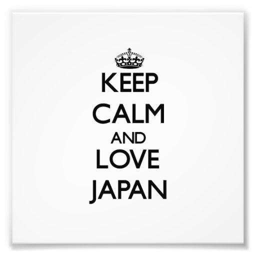 Keep Calm and Love Japan Photo Print