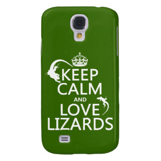 Keep Calm and Love Lizards - all colors Galaxy S4 Case