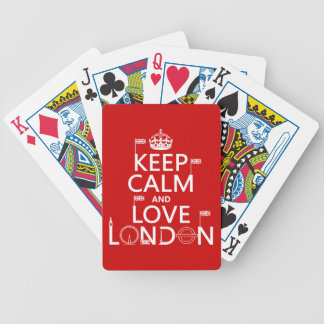 Keep Calm and Love London (any background colour) Poker Deck