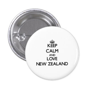 Keep Calm and Love New Zealand 3 Cm Round Badge
