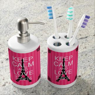 Keep Calm and Love Paris Bathroom Set