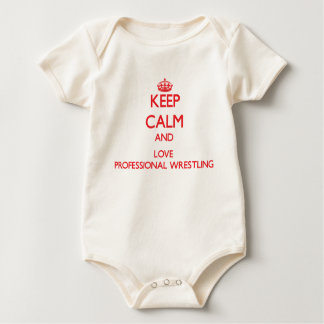 Keep calm and love Professional Wrestling Baby Bodysuit