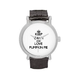 Keep calm and love Pumpkin Pie Wrist Watch