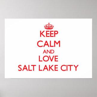 Keep Calm and Love Salt Lake City Poster