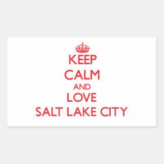 Keep Calm and Love Salt Lake City Stickers