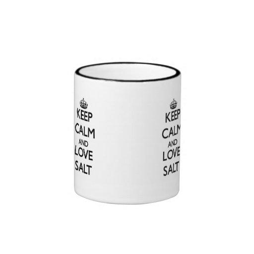 Keep calm and love Salt Coffee Mug