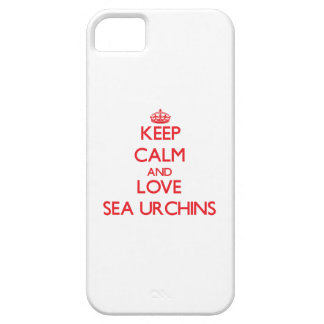 Keep calm and love Sea Urchins iPhone 5 Cases