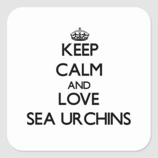 Keep calm and Love Sea Urchins Stickers