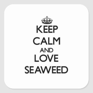 Keep calm and love Seaweed Sticker