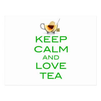 Keep Calm and Love Tea Original Design Postcard