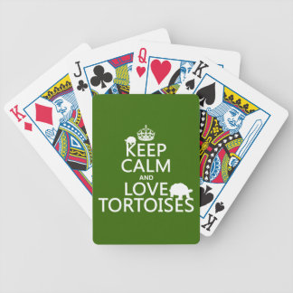Keep Calm and Love Tortoises (any color) Bicycle Playing Cards