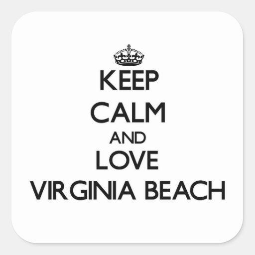 Keep Calm and love Virginia Beach Sticker