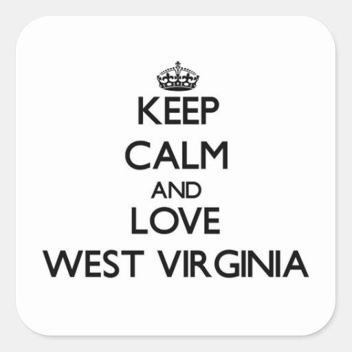 Keep Calm and Love West Virginia Sticker