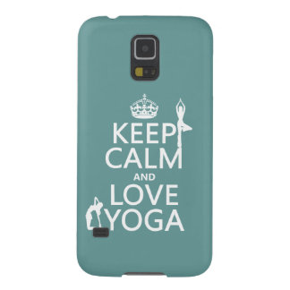 Keep Calm and Love Yoga (customizable colors) Galaxy S5 Case