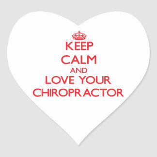 Keep Calm and Love your Chiropractor Sticker