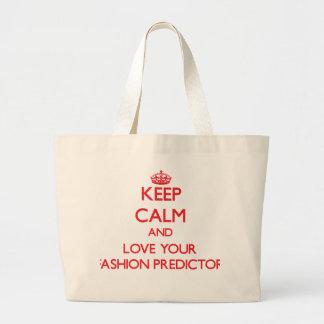 Keep Calm and Love your Fashion Predictor Canvas Bag