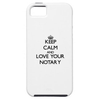Keep Calm and Love your Notary Tough iPhone 5 Case