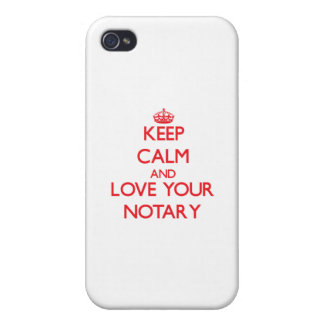 Keep Calm and Love your Notary Case For iPhone 4