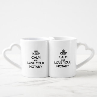 Keep Calm and Love your Notary Lovers Mug Sets